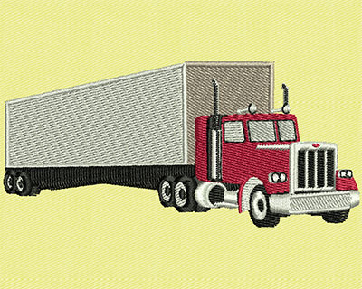 Embroidery Design: Transport Truck Front 3.88w X 1.81h