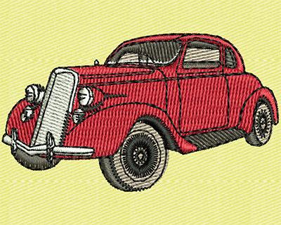 Embroidery Design: Vintage Car 2.19w X 1.25h