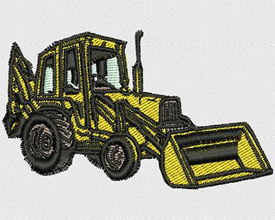 Embroidery Design: Bulldozer 2.81w X 1.69h