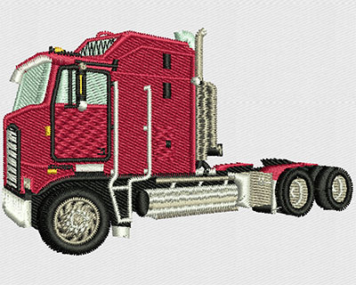 Embroidery Design: Flat Nose Truck 3.44w X 2.25h