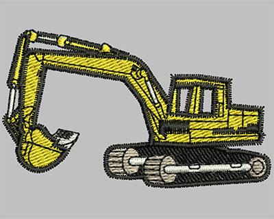 Embroidery Design: Excavators 2.44w X 1.44h