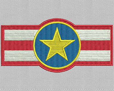 Embroidery Design: Star symbol 3.44w X 1.63h