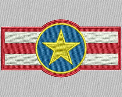 Embroidery Design: Star symbol 3.44w X 1.63h