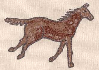 "Embroidery Design: Horse small 4.16""w X 3.01""h"