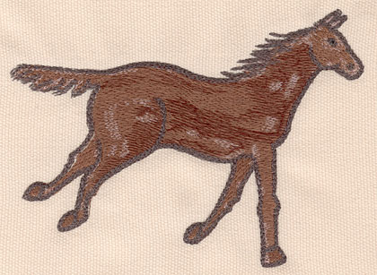 """Embroidery Design: Horse large 5.54""""w X 4.00""""h"""