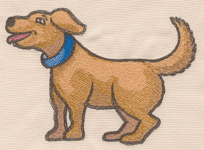 """Embroidery Design: Dog large5.42""""w X 4.07""""h"""