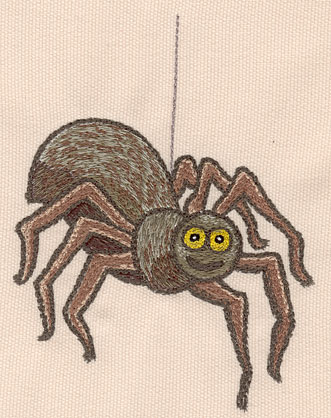 """Embroidery Design: Spider large 4.15""""w X 5.54""""h"""