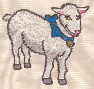 """Embroidery Design: Lamb large4.22""""w X 4.03""""h"""