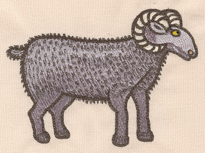 """Embroidery Design: Black sheep large5.46""""w X 3.89""""h"""
