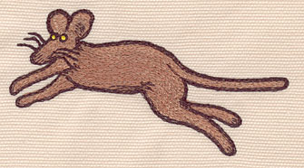 """Embroidery Design: Mouse large4.26""""w X 2.25""""h"""