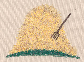 """Embroidery Design: Haystack large4.03""""w X 2.90""""h"""