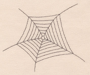 """Embroidery Design: Spider web large4.49""""w X 3.62""""h"""