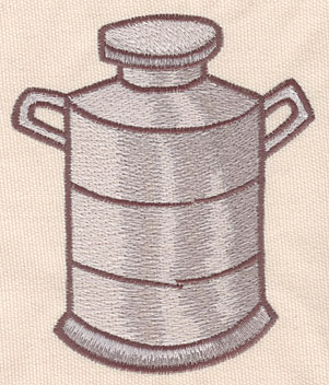 """Embroidery Design: Milk can large3.91""""w X4.60""""h"""