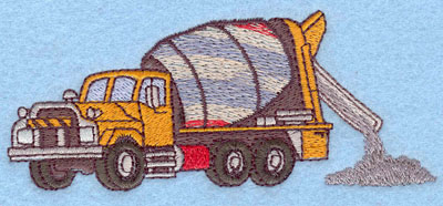 Embroidery Design: Cement Truck Small2.00w X 4.70h