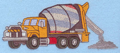 Embroidery Design: Cement Truck Large2.92w X 7.00