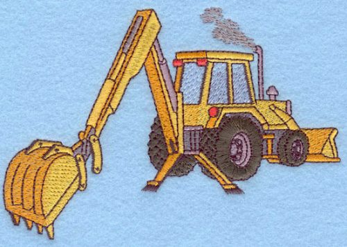Embroidery Design: Backhoe Small5.52w X 3.71h