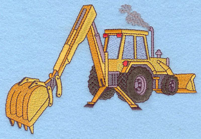 Embroidery Design: Backhoe Large7.13w X 4.83h