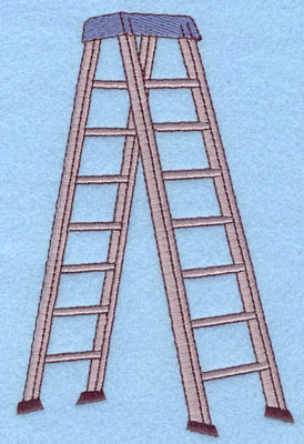 Embroidery Design: Ladder Large3.93w X 6.01h