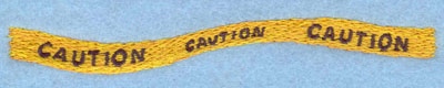 Embroidery Design: Caution Sign Small5.05w X 0.63h