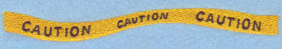 Embroidery Design: Caution Sign Large7.05w X 0.89h