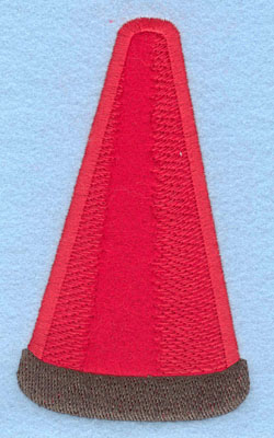 Embroidery Design: Safety Cone Large Applique3.39w X 5.79h