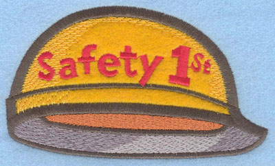 Embroidery Design: Safety Helmet Large Applique5.30w X 3.16h