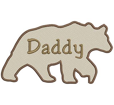 Embroidery Design: Daddy Bear Lg 8.66w X 4.86h