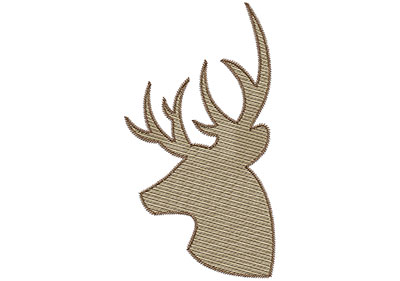 Embroidery Design: Deer 1 Mylar 3.83w X 6.98h