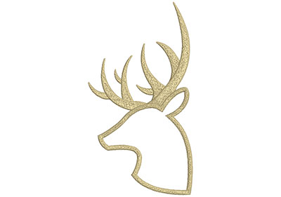 Embroidery Design: Deer 10 5.61w X 10.42h