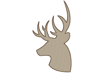 Embroidery Design: Deer 2 Mylar 5.72w X 10.48h