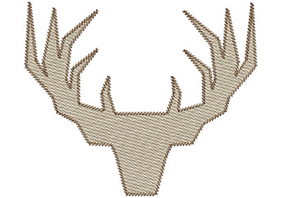 Embroidery Design: Deer 3 Mylar 5.95w X 4.97h