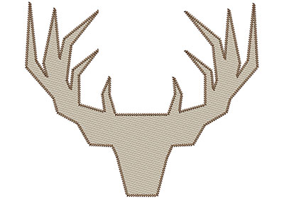 Embroidery Design: Deer 4 Mylar 8.91w X 7.46h