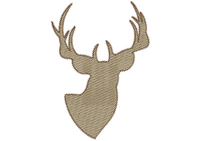 Embroidery Design: Deer 5 Mylar 4.98w X 7.00h
