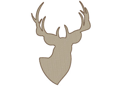 Embroidery Design: Deer 6 Mylar 7.45w X 10.5h