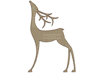 Embroidery Design: Deer 7 Mylar 4.62w X 6.96h