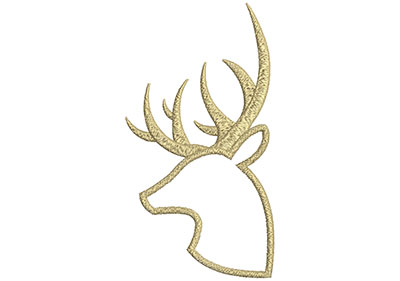 Embroidery Design: Deer 9 3.75w X 6.95h