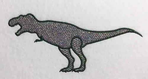 Embroidery Design: Dinosaur T-Rex Mylar Lg 8.14w X 3.82h