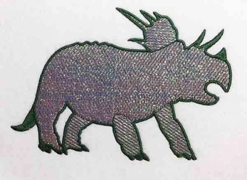 Embroidery Design: Dinosaur Triceratops Mylar Lg 8.14w X 5.72h