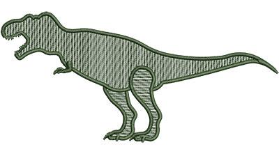 Embroidery Design: Dinosaur T-Rex Mylar Sm 4.89w X 2.30h