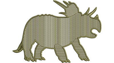 Embroidery Design: Dinosaur Triceratops Mylar Med 6.51w X 4.58h