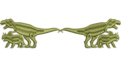 Embroidery Design: Dinosaurs Parallel Med 6.48w X 1.60h