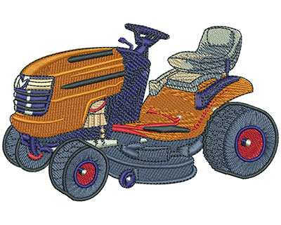 Embroidery Design: Lawnmower Diagram Lg 4.77w X 3.08h