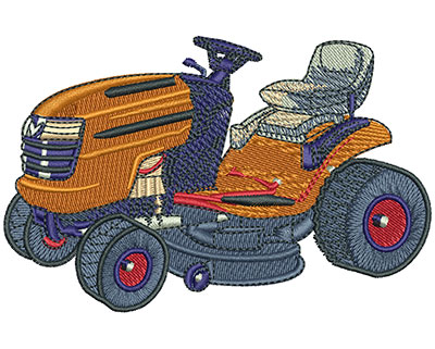 Embroidery Design: Lawnmower Diagram Sm 3.27w X 2.12h