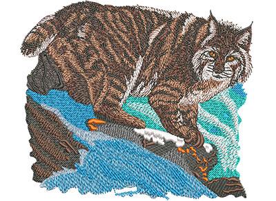 Embroidery Design: Bobcat Prowl Lg 6.00w X 5.15h