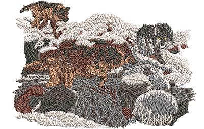 Embroidery Design: Wolf Creek Sm 4.01w X 2.80h