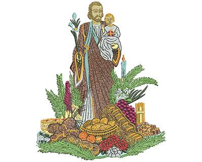 Embroidery Design: St Josephs Altar Lg 4.70w X 5.75h