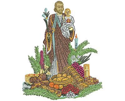 Embroidery Design: St Josephs Altar Med 3.91w X 4.78h