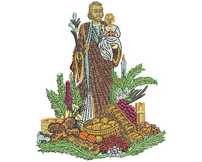 Embroidery Design: St Josephs Altar Sm 3.07w X 3.76h