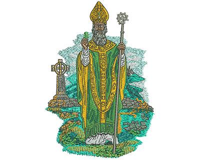 Embroidery Design: St Patrick Lg 3.99w X 5.74h