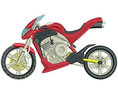 Embroidery Design: Rocket Bike Lg 3.52w X 1.99h